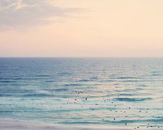 Beach Photography, Beach Wall Art, Beach Decor, Bedroom Wall Decor, Bedroom Wall Art, Living Room Wall Art, Pastel Beach at Sunset by LightSongPhotography on Etsy https://www.etsy.com/listing/232495409/beach-photography-beach-wall-art-beach