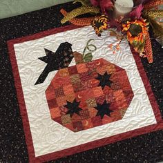 """13 Likes, 3 Comments - Dorothy Vaughan (@saturdayquilter) on Instagram: """"Just finished making this lovely little quilt from @thepatternbasket #pumpkinseasonquilt"""""""
