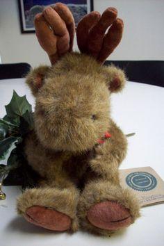 Vintage Collectible Boyd's Moose plush Maynard Von Hindenmoose by UpcycledCottageDecor on Etsy
