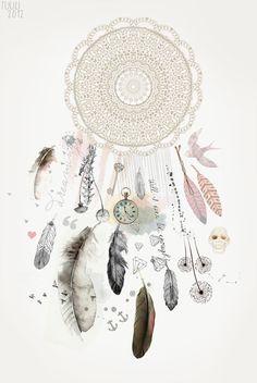 Dreamcatcher collage by Tuuli Jürgenson