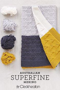 Ravelry: mod baby blanket #417 pattern by Cleckheaton