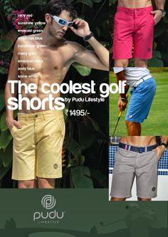 Golf Shorts Mens by Pudu