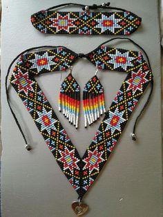 Beading Patterns Free, Bead Loom Patterns, Beaded Jewelry, Handmade Jewelry, Beaded Necklace, Loom Beading, Bead Earrings, Bead Art, Bead Weaving