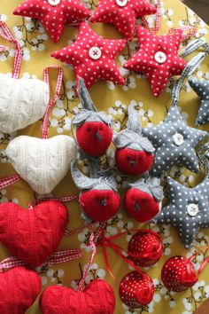 cute stuffed sweater hearts for my apothecary jar