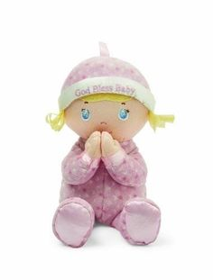1 ^^ ^ Kids Preferred Blessed Friends Doll Pink Soft baby girl brings her hands together at her heart in earnest prayer * Read more at the image link. (This is an affiliate link) Boy Doll, Girl Dolls, Blessed Friends, Dolls And Daydreams, Doll Games, Doll Divine, Pink Doll, Embroidered Hats, Kids Party Supplies