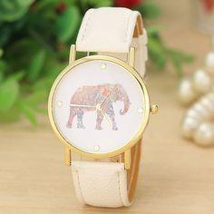 Fashion Women Casual Wristwatch Leather Quartz Dial Watch Ladies Dress Watches #Fashion