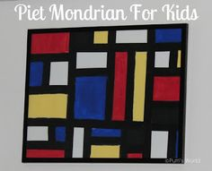 What Colors Did Piet Mondrian Use In His Paintings