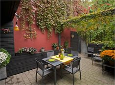 black siding patio furniture