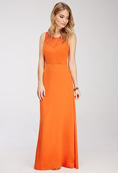 would love this one in a different colour :) Chiffon-Paneled Maxi Dress | FOREVER21 - 2000080181