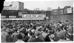 Huge crowds gather outside Stamford Bridge in 1934 to watch Chelsea play Embedded image permalink Nostalgic Pictures, Vintage Pictures, Hampden Park, Bolton Wanderers, Joining The Army, English Games, Stamford Bridge, Chelsea Fc, Embedded Image Permalink