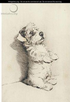 "artist ""cecil aldin | Begging for a treat - Cecil Charles Aldin - WikiGallery.org, the ..."