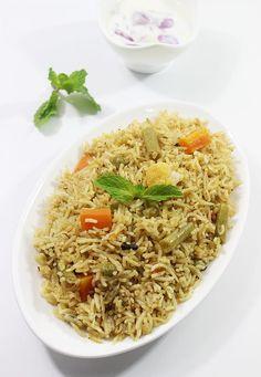 Veg biryani recipe, how to make veg biryani (restaurant style)