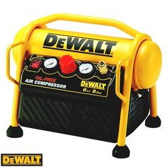 DeWalt Mini Roll Cage Air Compressor Tank - Important Man Stuff Air Compressor Oil, Portable Compressor, Power To Weight Ratio, Mini Rolls, Trailer Storage, Dewalt Tools, Man Cave Gifts, Roll Cage, Air Tools