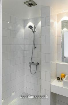 Durofix Kototalo - Kylpyhuone   Asuntomessut Bathrooms, Sink, New Homes, Bathtub, Dreams, House, Home Decor, Sink Tops, Standing Bath