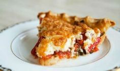 """Tomato Pie - this recipe is a little different from the one I've eaten, but I'm going to try it anyway. When I first heard """"tomato pie"""" I thought - YUCK. It was shockingly delish. Pie Recipes, Cooking Recipes, Party Recipes, Summer Recipes, Comidas Light, Tomato Pie, Tomato Basil, Good Food, Yummy Food"""