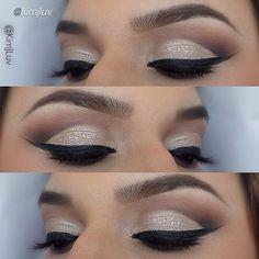 Cut crease eye look Cut Crease Makeup, Eyebrow Makeup, Hair Makeup, Gorgeous Makeup, Love Makeup, Makeup Looks, Makeup Tattoos, Eye Make Up, Beauty Make Up