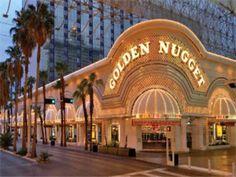 Golden Nugget Hotel & Casino...have a water slide under a shark tank!