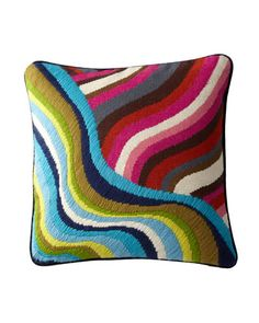 Jonathan Adler Hand-Embroidered Bargello Pillows - Horchow