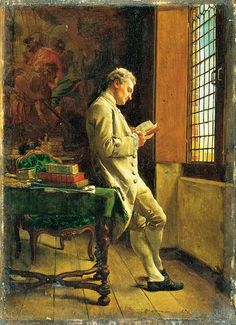 """Every reader finds himself. The writer's work is merely a kind of optical instrument that makes it possible for the reader to discern what, without this book, he would perhaps never have seen in himself."" (Marcel Proust) ""le Liseur blanc"" (Jean-Louis Ernest Meissonier)"
