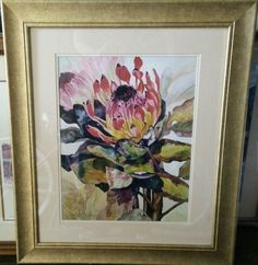 Stephanie Elise Limited Edition Framed Flower Watercolor in Art