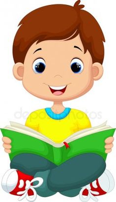 Boy and girl reading book together. Vector illustration for children Reading Cartoon, Cartoon Boy, Book Drawing, Drawing For Kids, Girl Reading Book, School Murals, School Painting, School Decorations, Foam Crafts