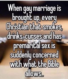 Sad that this came from an atheist.  You can't live in sin and call out someone's sin.