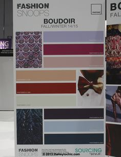 Boudoir color palette for fall 2014 winter 2015 #trendforecast