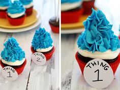 Thing one and thing two - We are doing these cupcakes for the Twinners' first birthday!
