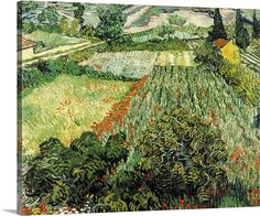 Outskirts of Paris Road with Pleasant 1887 Van Gogh Poster Canvas Picture A0-A4