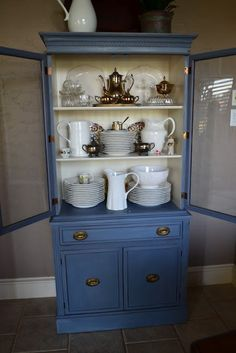 Old Violet China Hutch @ Lilacs and Longhorns