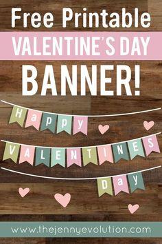 DIY Valentine Home Decor Banner - FREE Printable