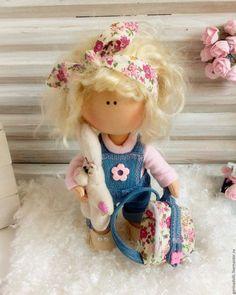 Купить Текстильная кукла. Маришка - бледно-розовый, кукла ручной работы, кукла в подарок