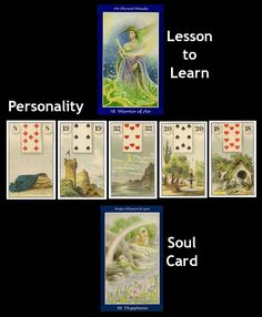 Lenormand Line Of Five Spread