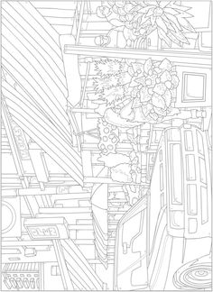 Welcome to Dover Publications - CH City Sights CB# Pattern Coloring Pages, Printable Adult Coloring Pages, Colouring Pages, Color By Numbers, Paint By Number, Colorful Drawings, Colorful Pictures, Color By Number Printable, Creative Haven Coloring Books