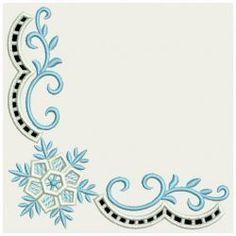 Snowflake Corner Cutwork 05(Lg) machine embroidery designs