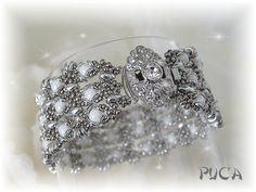 "Bulk, diagramma ... Bracelet ""Lili"" è una creazione di PUCA orginale su DaWanda-Super duo perline O Seed 15 Seed 11 Rotondo 4 millimetri Chiusura"