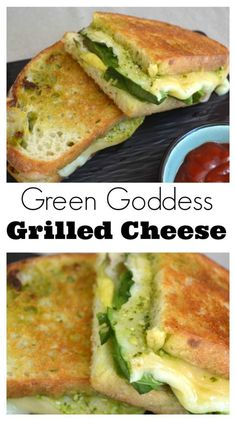take on the classic grilled cheese, this green goddess grilled cheese ...