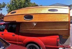 Wooden camper.