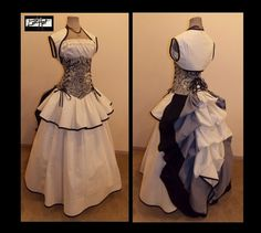 CHERISHED  Steampunk Victorian Corset Bustle Full by loriann37