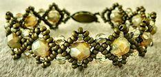 Linda's Crafty Inspirations: Bracelet of the Day: Bobble Band Variation - Champagne & Bronze