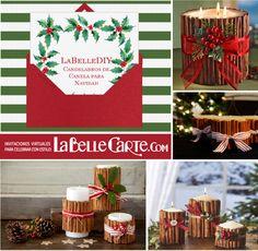 Tarjetas de navidad, tarjeta de navidad, ideas para navidad, DIY de navidad, candelabros de canela para navidad