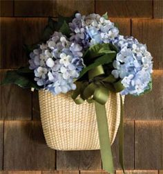 Had this on my Cape Cod home front door....what is a coastal home wothout blue hydrangeas?