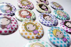 Rite Rite: Chapas personalizadas despedida de soltera María
