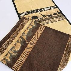 Bring a little bit of Africa to your interior with these African safari theme table runners. Made from high-quality kuba cloth. The heavyweight material provides beautiful safari accent definition for your design while also being the perfect comp.