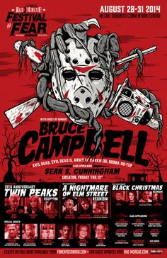 Poster Illustration for Rue Morgue Magazine's Festival of Fear. Horror Posters, Black Christmas, Breath Of Fresh Air, Convention Centre, Illustrations And Posters, 25th Anniversary, Creative Industries, Platform, Fan