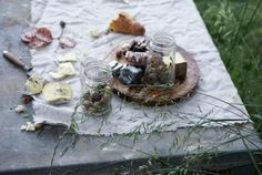 Olives look much better in a glass jar than a plastic tub. Steal This Look: Late Spring Picnic : Gardenista
