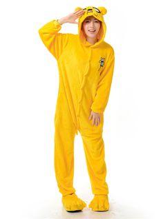 Adventure Time Jake Kigurumi Pajamas Adult Anime Cosplay Costume Onesies  Animal Costumes a1d8d3ee7