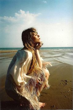 Sexy boho chic gypsy style fringe kaftan cover up for a carefree modern hippie allure. For the BEST Bohemian fashion trends FOLLOW http://www.pinterest.com/happygolicky/the-best-boho-chic-fashion-bohemian-jewelry-gypsy-/ now