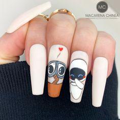 Cute Acrylic Nail Designs, Simple Nail Designs, Cute Acrylic Nails, Art Nails, Manicure, Mani Pedi, Dope Nails, Swag Nails, Disney Nails