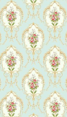 Ideas For Wallpaper Vintage Flower Decoupage Mermaid Wallpaper Backgrounds, Rose Wallpaper, Trendy Wallpaper, Flower Backgrounds, Textured Wallpaper, Iphone Wallpaper, Decoupage Paper, Decoupage Vintage, Bead Studio